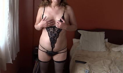 My 58 year old hairy wife shows off to my friends