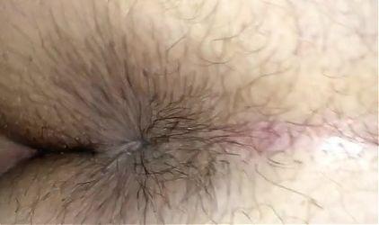 Fucking my hairy BBW wifes ass